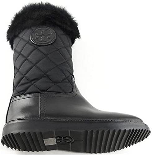 Tory Burch Joey Fur Trim Quilted Winter
