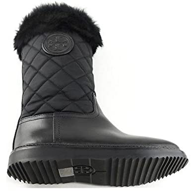 cd8132ddc7a Amazon.com   Tory Burch Joey Fur Trim Quilted Winter Boots Women's ...