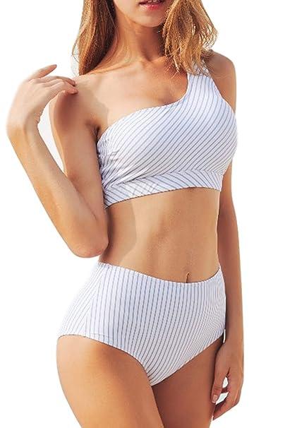 Amazon.com: AdoreShe traje de baño de dos piezas para mujer ...