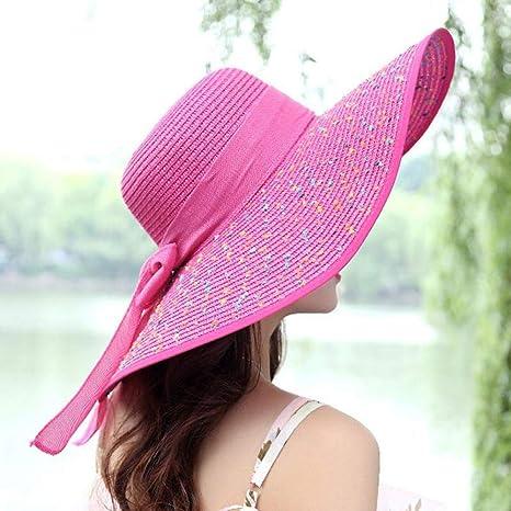 YUANBAOG Sombreros de Playa para Mujer de Verano Gorras Gorras de ...