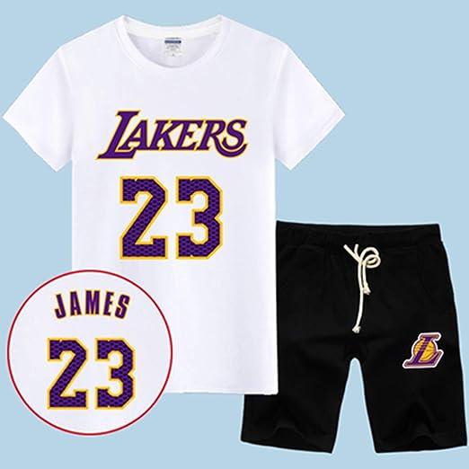 T-SHIRT Conjunto De Camiseta De La NBA L.A Lakers James # 23 ...