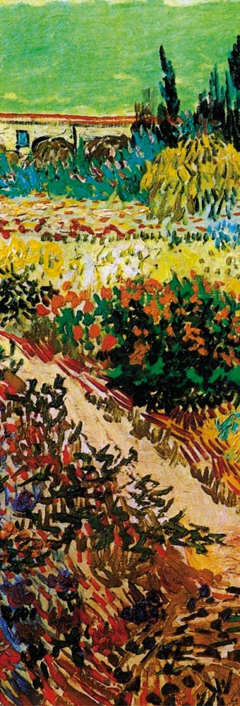 1art1 Vincent Van Gogh Poster Art Print - Blossoming Garden and Path, 1888, Detail (36 x 12 inches)
