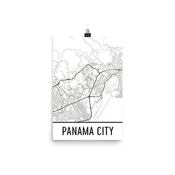 Amazon.com: Panama City Print, Panama City Art, Panama City Map ...