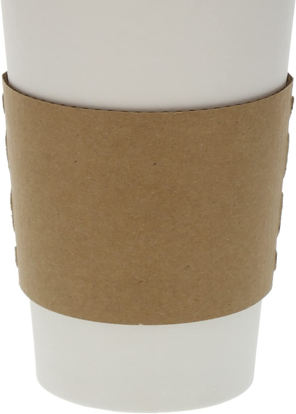 Envirolines Disposable Kraft Paper Hot Coffee Cup Sleeves, Case of 1000