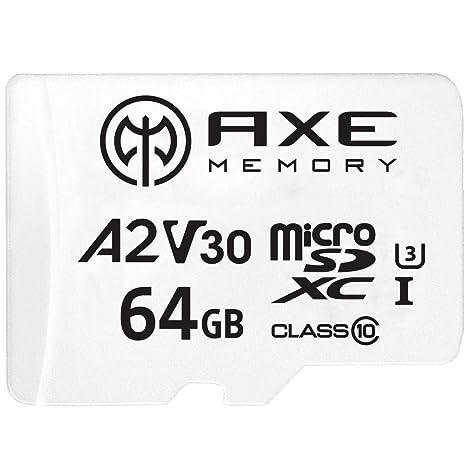 AXE Tarjeta de memoria microSDXC de 64 GB + adaptador SD con ...