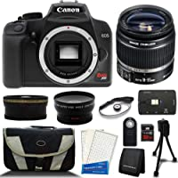 Canon Rebel XS EF-S SLR Megapixel Digital Camera + Three Lens Bundle, and Much Much More (Certified Refurbished) (Deluxe Bundle)