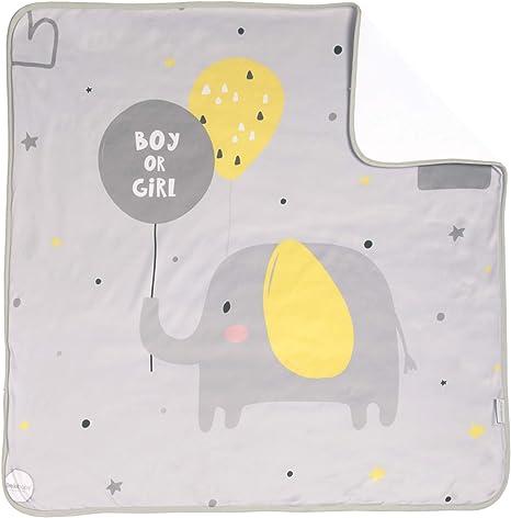 Arrullo para bebé estampado punto de algodón (80 x 80 cm) GOLDEN: Amazon.es: Bebé