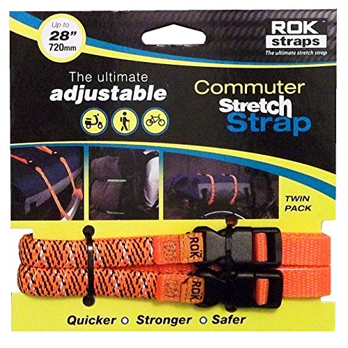 - ROK Straps Commuter Reflective Adjustable Straps - Orange