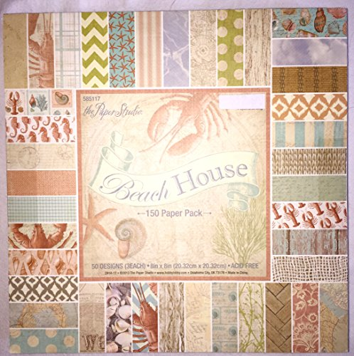 (Beach House 8x8 Scrapbooking Paper Pad, 150 Sheets)
