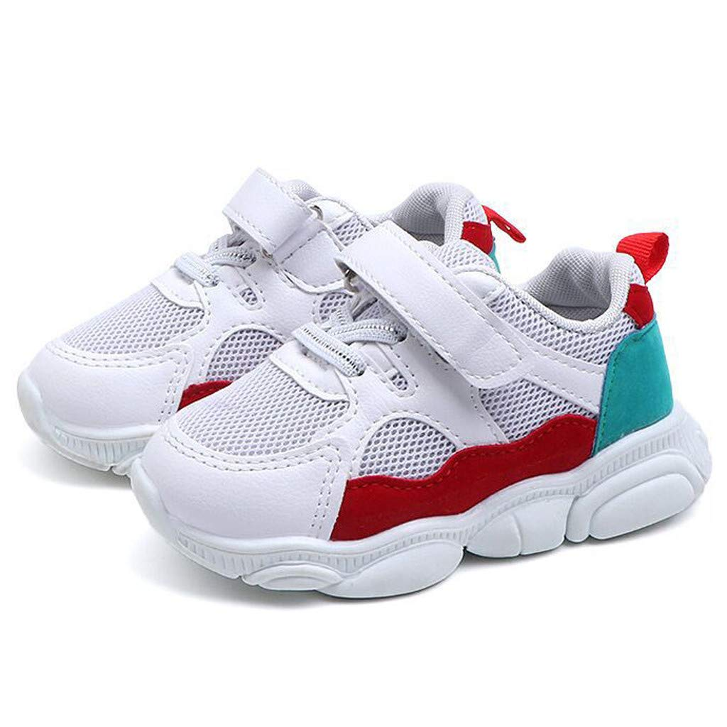 ❤️ Mealeaf ❤️ Toddler Kids Baby Girls Boys Cartoon Bear Sole Mesh Running Sport Shoes Sneakers(15M-6Y)