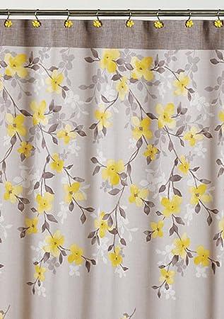 Amazon.com: Saturday Knight Spring Garden Floral Fabric Shower ...