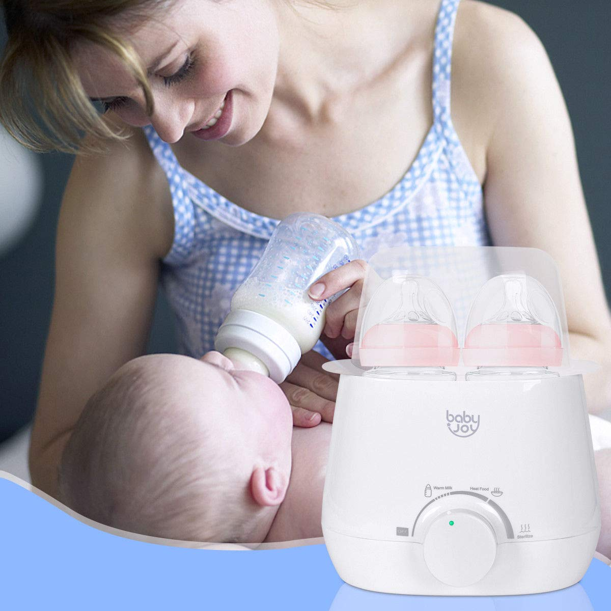 Baby Joy 3-in-1 Baby Bottle Warmer, Food Warmer, Steam Sterilizer, Portable Warming Breast Milk, Double Bottles Warmer with Accurate Temperature Control, Dry-Fire Protection by Baby & Joy (Image #8)