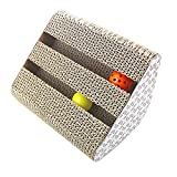 Zaote Cat Scratch Board With Balls Inside for Cat Grinding Claws Cat's Sensitivity Training Cat Play Board Toys