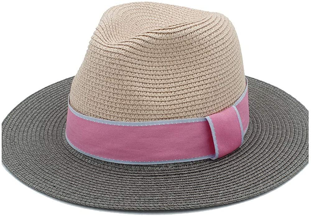 Summer Leisure Sun hat Mens Fashion Straw hat Mens Beach Sun hat