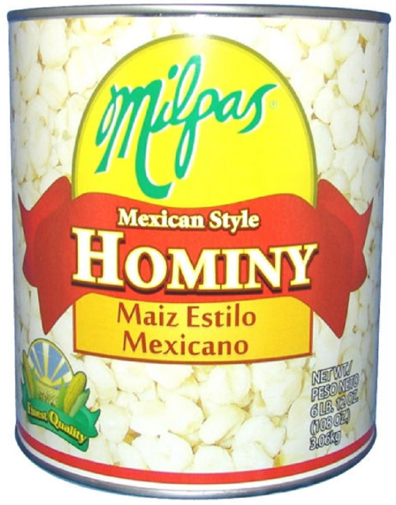 MILPAS Hominy Mexican Sty, 108 Ounce (Pack of 6)