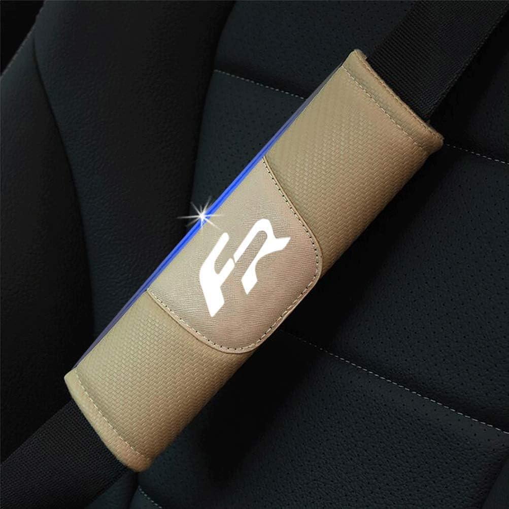 pour Seat Leon 2 FR Seat Belt Cover Couverture /épaules Confortable Clip S/écurit/é N//A 2pcs Housse Ceinture S/écurit/é Voiture /Épaule Pads Int/érieure Mod/élisation Accessoires Automobile