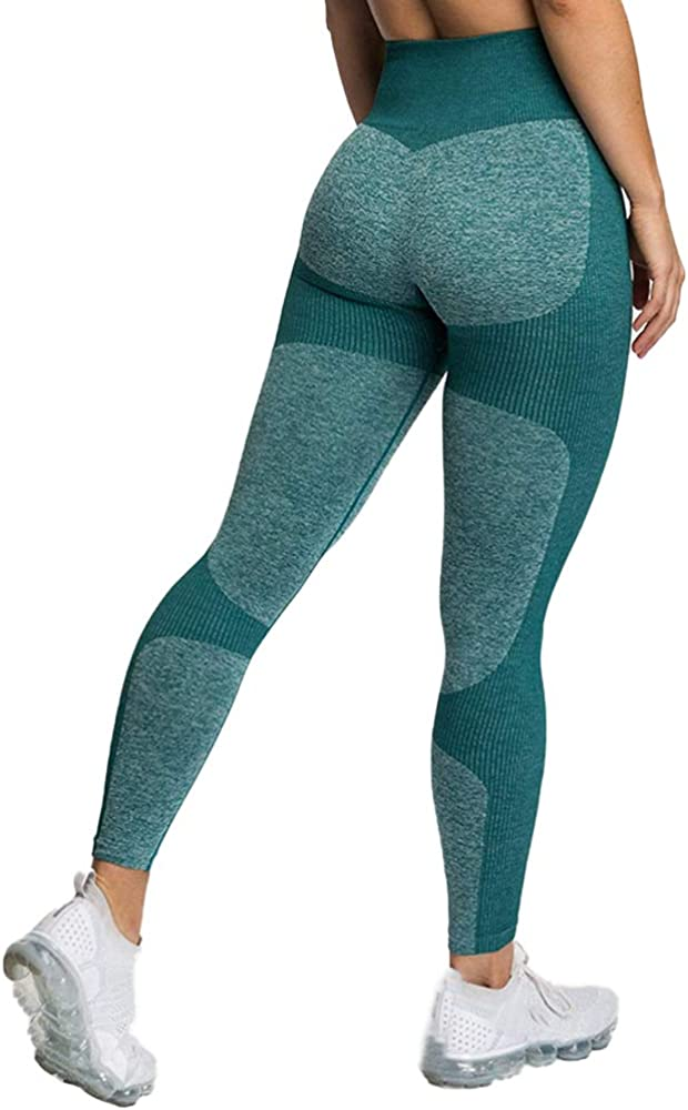 Seamless Leggings for Women Workout Butt Lift High Waist Yoga Pants Running Tummy Control Slimming Compression
