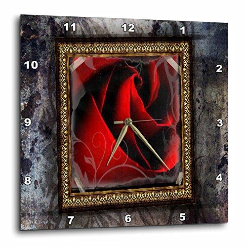 3dRose dpp_14824_2 Bohemian Rose-Wall Clock, 13 by 13-Inch