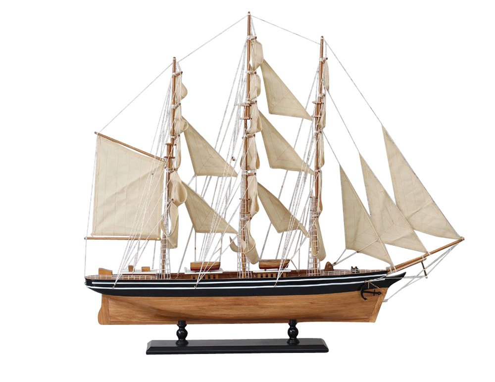 Cutty Sark model ship sail boat yacht 102cm baroque antique style aubaho