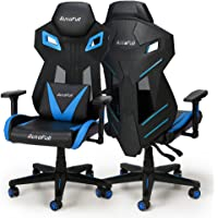 AutoFull Ergonomic Video Game Chair Mesh Back w/ Lumbar Support