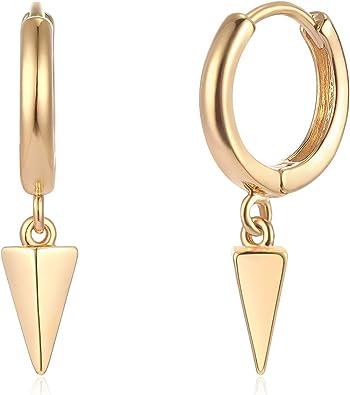 Geometric Earrings 14Kt Gold Earring