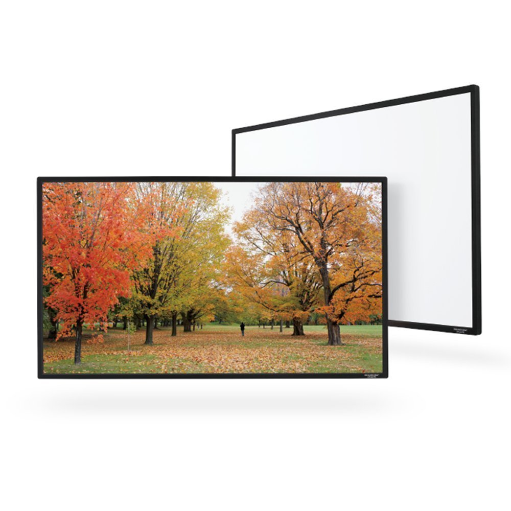 Grandview USA 92'' (80''x45'') UHD / 4K Thin Fixed Frame Projector Screen - 1.3 Gain - [16:9]