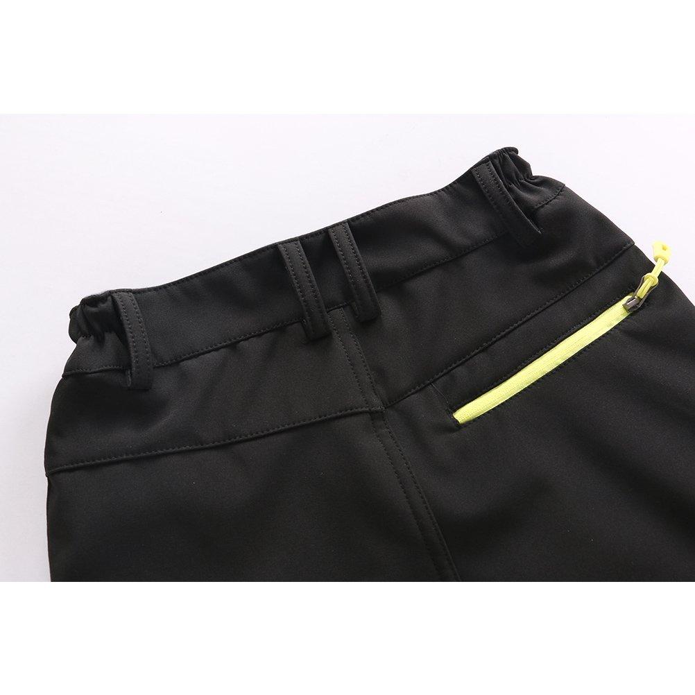 Zhhlinyuan Boys Girls Soft shell Sport Pants Child Outdoor Waterproof Trousers