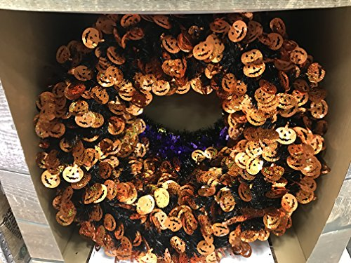 18 inch Halloween Tinsel Wreath ()