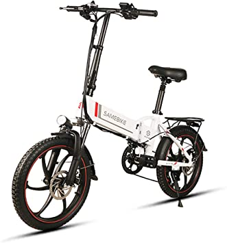 Lixada Bicicleta Eléctrica Plegable de 20 Pulgadas Power Assist ...