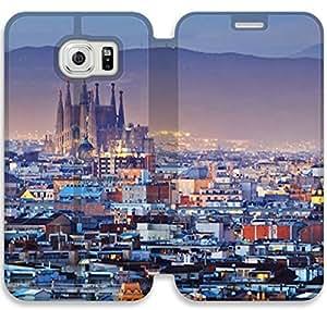 samsung galaxy S6 Edge Flip Leather Phone Case Barcelona SF1DG6287896