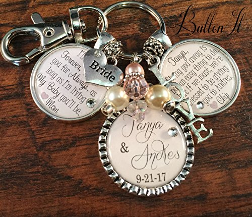 Always Shower (Bridal bouquet charm, wedding bouquet charm, Daughter wedding gift, I'll love you forever like you for always, bridal shower gift, mother daughter jewelry, wedding gift from parents)