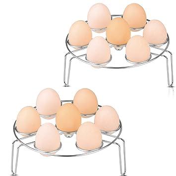 Cestas Huevos, Egg Baskets Hueveras Soporte para Rack Inoxidable Vapor Rack Soporte Cesta para Huevos Alimentos Soporte para Olla a presión aire freidora, ...