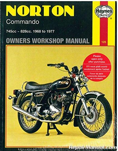 H125 Haynes Norton Commando 750 850 1968-1977 Motorcycle Owners Workshop Manual