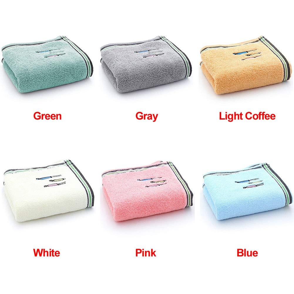 GEZICHTA Lot de 2 Grandes Serviettes de Toilette en Coton pour la Maison Free Size Light Coffee