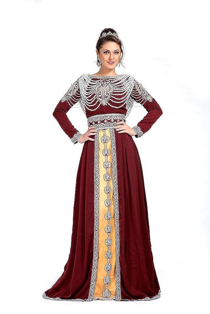 Kolkozy Fashion Women's Long Length Islamic Mgoldccan Kaftan