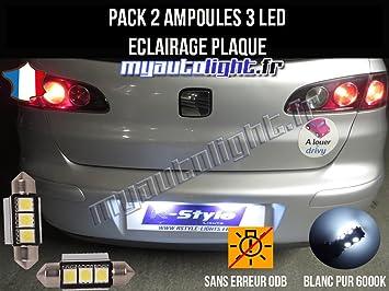 MyAutoLight Pack de bombillas LED para placa de iluminación, compatible con Seat Ibiza 6L: Amazon.es: Coche y moto
