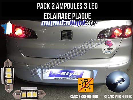 MyAutoLight Pack de bombillas LED para placa de iluminación, compatible con Seat Ibiza