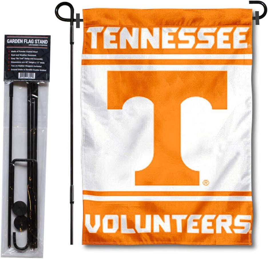 College Flags & Banners Co. Tennessee Volunteers Garden Flag and Flag Stand Pole Holder Set