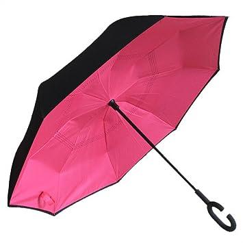Ben Sports doble capa de paraguas invertido coches paraguas reversible Rose