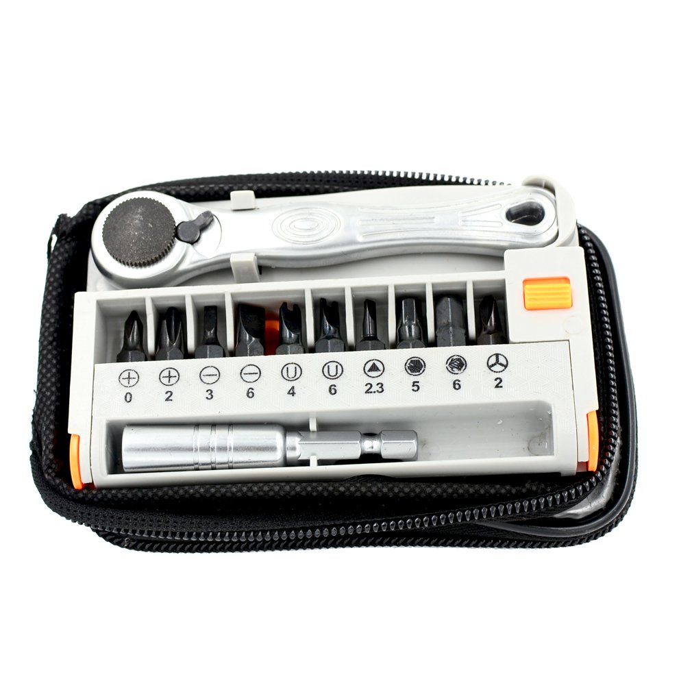 DGOL 12 in 1 Multifunctional Mini Portable Screwdriver Ratchet Wrench Kit DGOL-AT33