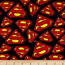 DC Comics Superman Logo Flannel Multi Fabric By The Yard