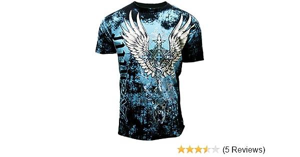 05eee859 Amazon.com: Konflict Men's Flight Eagle Spade Graphic Designer MMA Muscle T- shirt: Sports & Outdoors