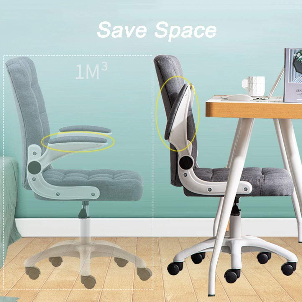 Hem kontor ryggstöd stol justera rullstol dator stol uppgift stol med läderemulsion och svamp 360 ° rotation nylon kastruller snygga sovrumsmöbler, brun Brun