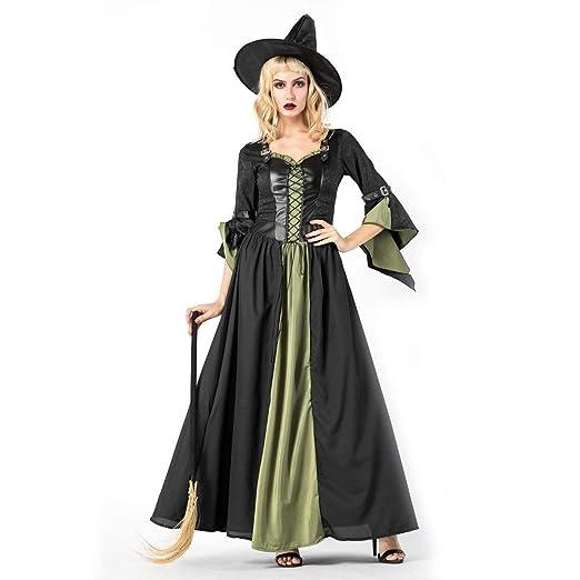 Royanney ハロウィン仮装 ハロウィン衣装 魔女 女性 ハロウィン コスプレ 魔女衣装 ロングドレス 魔女 コスプレ 大人 ハロウィン 衣装  ハロウィン コスチューム コスプレ 衣装 仮装 大人
