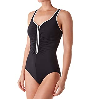fc868993f9e8d Reebok Women's High Neck One Piece Swimsuit at Amazon Women's ...