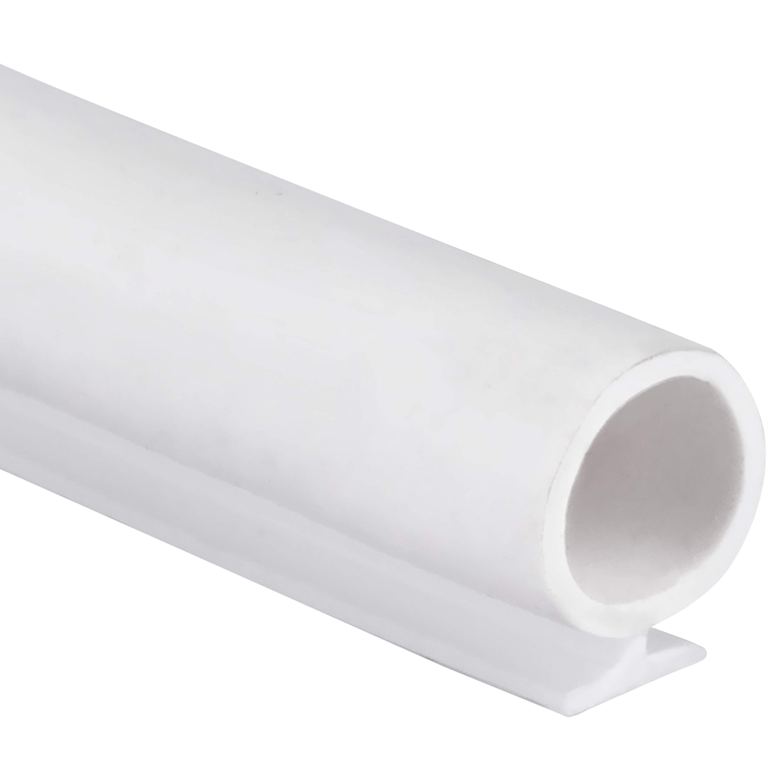 "T-Slot Mount Window Weatherstrip Seal 5/16"" Bulb Bubble for 3/16"" Slot Receptacle 3 Colors & 5 Length Options (50', White)"
