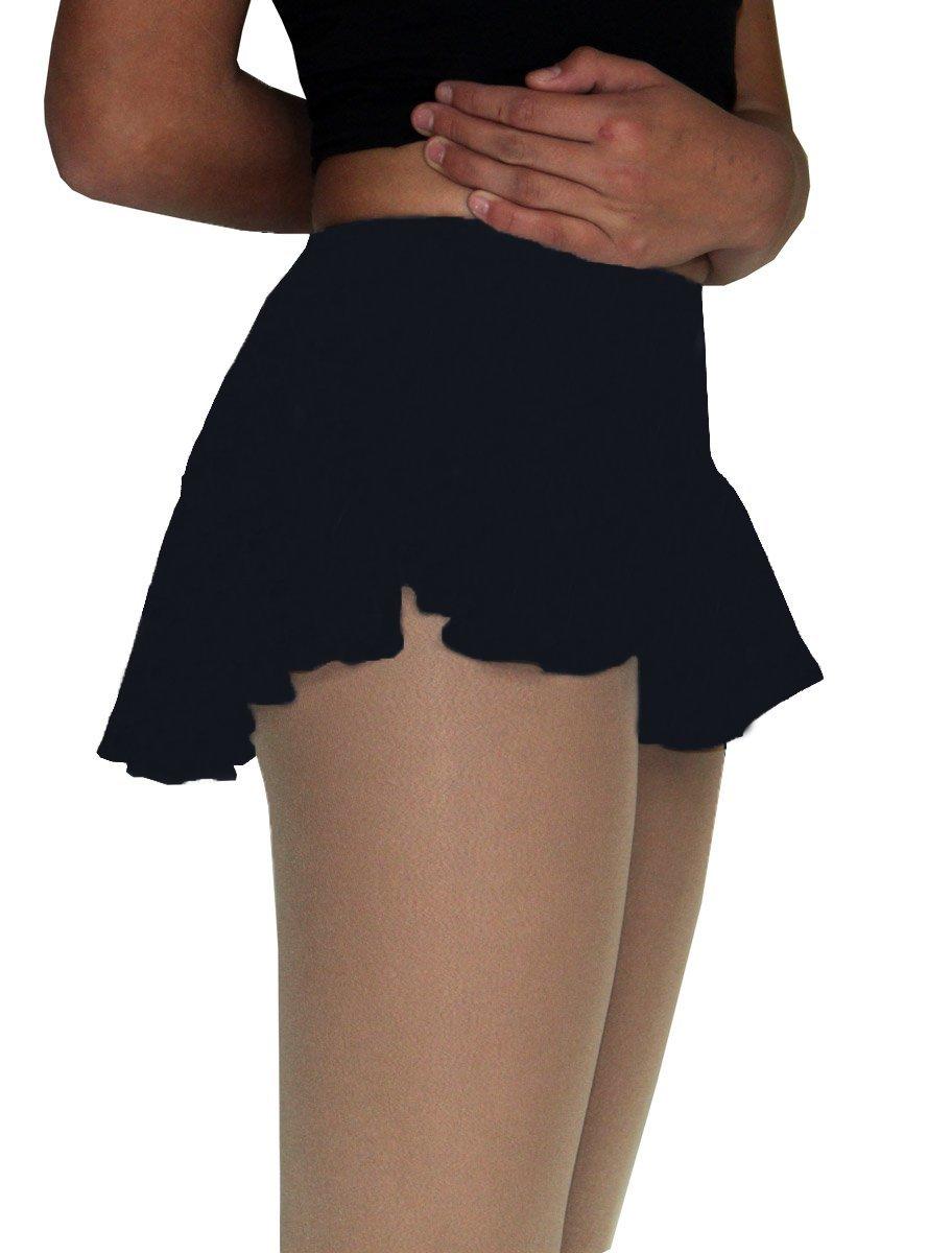ChloeNoel Figure Skating York Flare Skate Skirt K02 Black Adult Medium by ChloeNoel