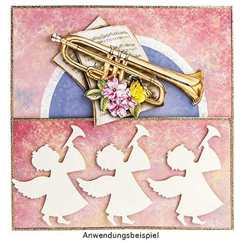 Motivgr/ö/ße: 7cm x 6,8cm Weihnachtskarten /& Deko f/ür Weihnachten Motiv-Locher f/ür Papier Jumbo-Stanzer Engel mit Trompete Geschenkanh/änger /& Aufleger basteln