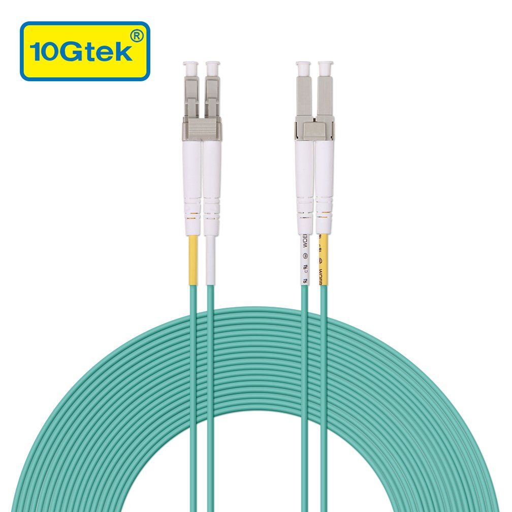 Multimode Fiber Optic Patch Cord Cable Duplex LSZH 50//125/μm for SFP /& 10G SFP+ Available 3.3ft to 160ft 33ft 10Gtek/® LC to LC OM3 10Gb 10m