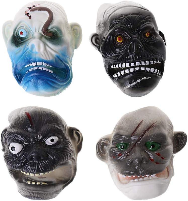 Daxoon Marionetas de Dedo de Halloween 4 Piezas Mini máscara de Fantasma Marionetas de Dedo de Monstruo para Juguetes Divertidos de Halloween Accesorios de Historia de Terror